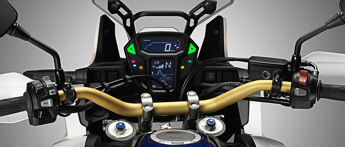 HONDA CRF1000L AfricaTwin 2016 ABS DCT Rally motorcycle cockpit instrumentation LCD display